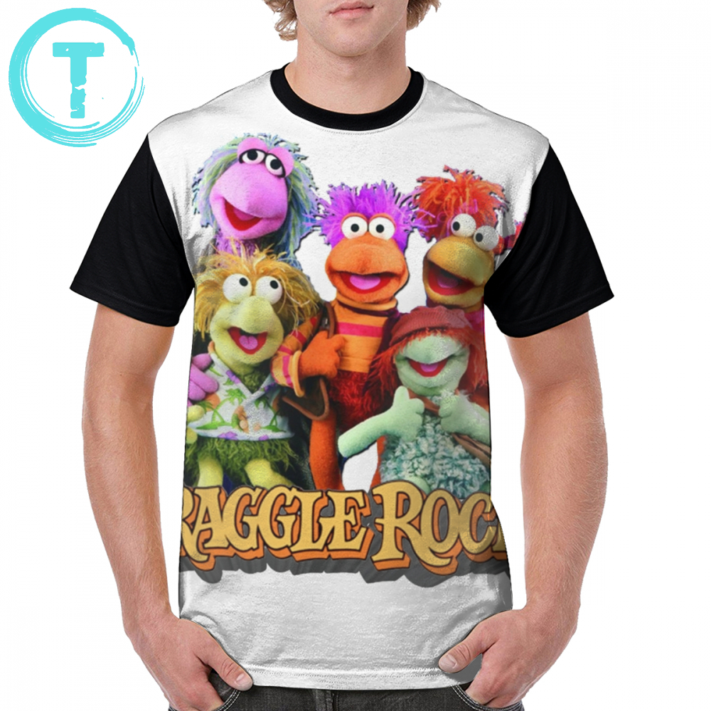 Muppets T Shirt Fraggles T-Shirt Short Sleeves Mens Graphic Tee Shirt 5x Casual 100 Polyester Graphic Funny Tshirt