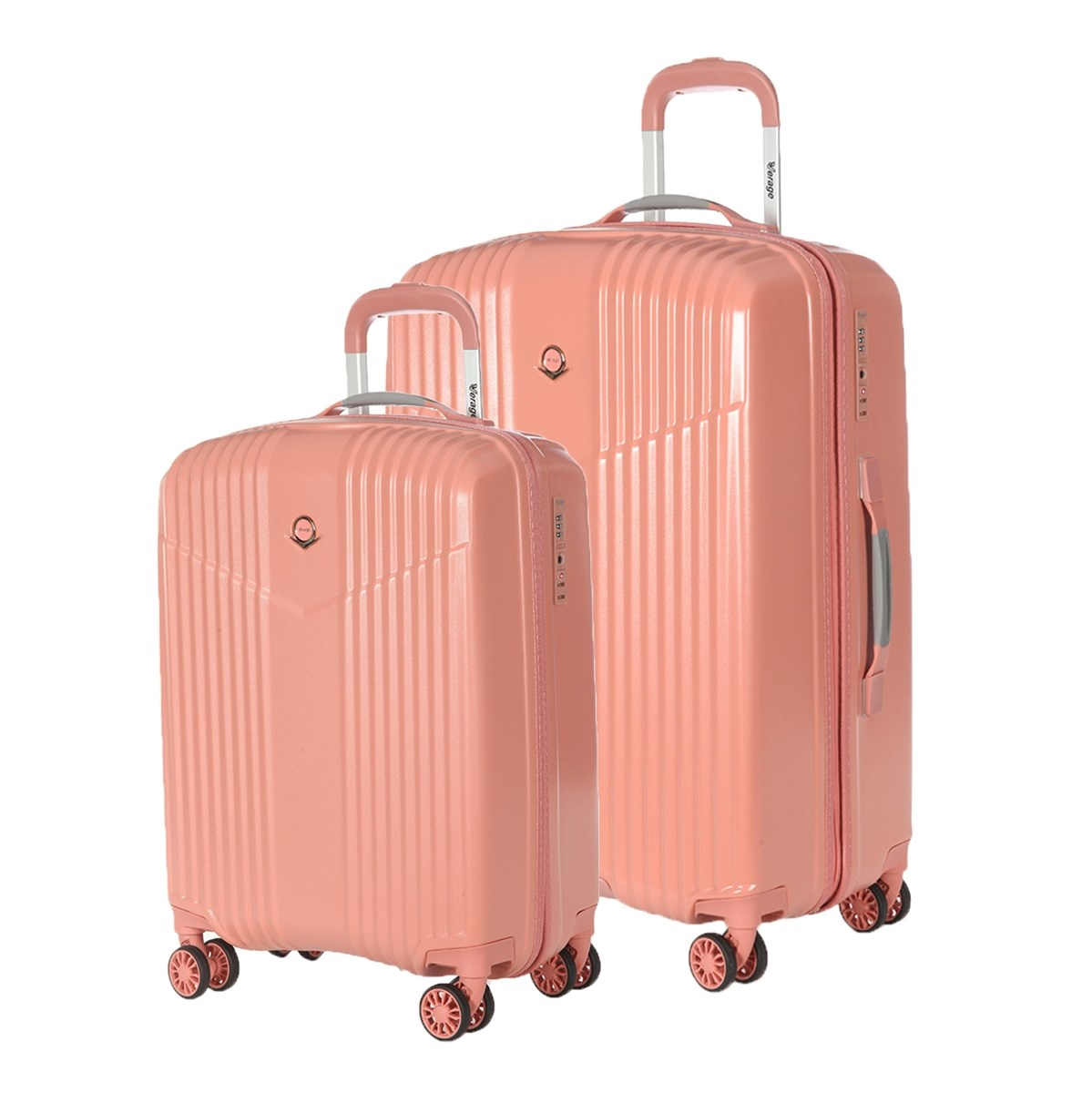 Set Suitcases Verage GM17072W 19/24 coral pink 3pcs soft coral fleece sunflower bath mats set