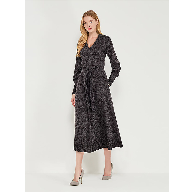 tom farr women dress for winter 2018 long sleeve female clothes T-W4591_57 exaggerate bell sleeve buttoned keyhole dress