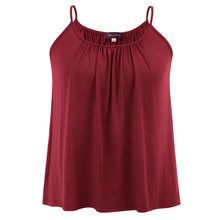 Plus Size Ladies Bubble Loose Fit Cami Swing Vest Tank Top Camisole  Strappy(China) 81928abdafeb