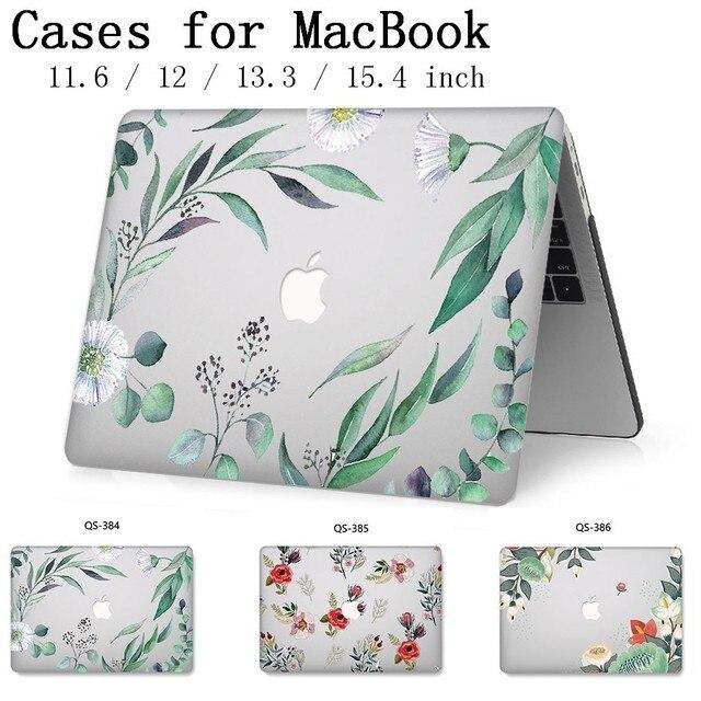 Novo caso do portátil para apple macbook 13.3 15.6 Polegada para macbook ar pro retina 11 12 13 15.4 com protetor de tela teclado cove