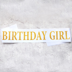 Nicro Birthday Girl Glitter Satin Sash Princess Happy Birthday 10th 15th 16th 18th 20th 21st 30th 40th Party Decoration #Oth09