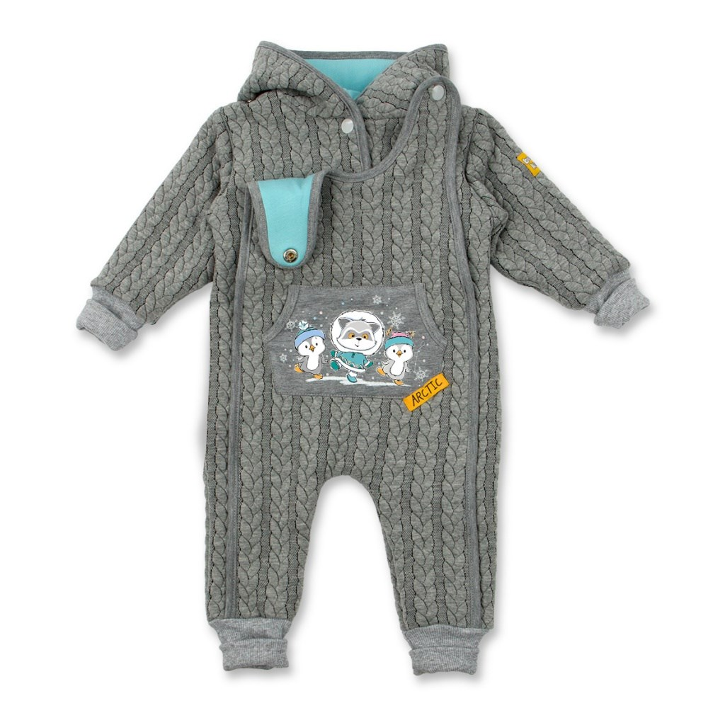 Jumpsuit Spit insulated gray melange kids clothes children clothing kids clothes children clothing jumpsuit gray melange