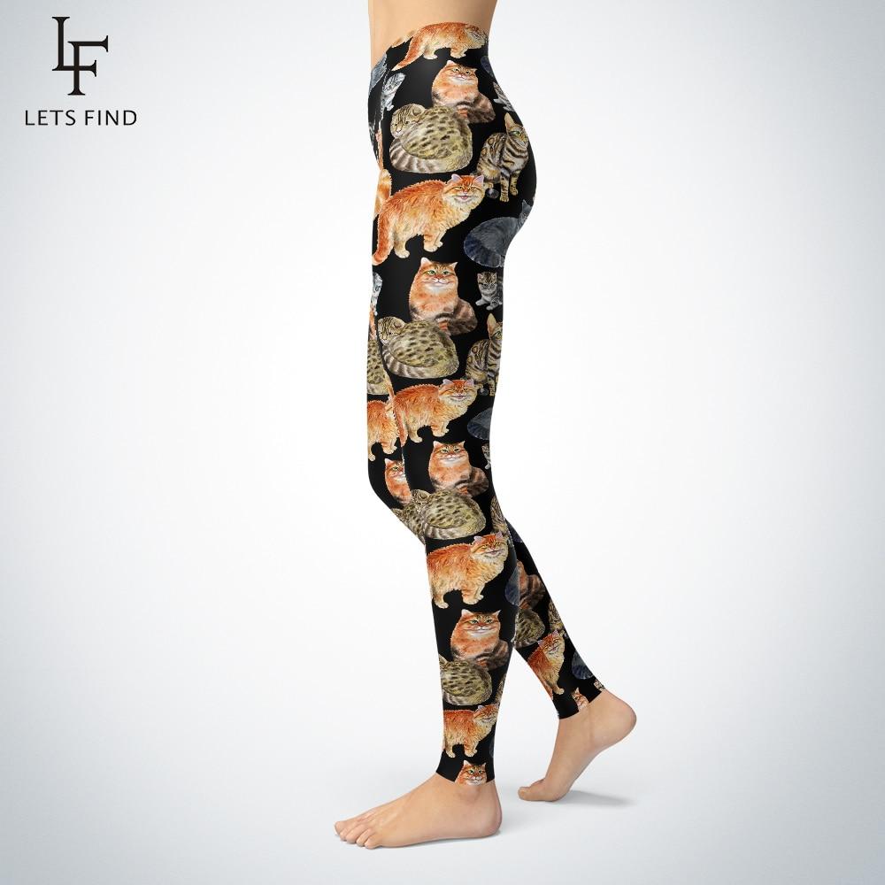 New Digital Printing Cat   Leggings   Womens Plus Size Fashions High Elasticity Mid Waist Casual Aninal   Leggings