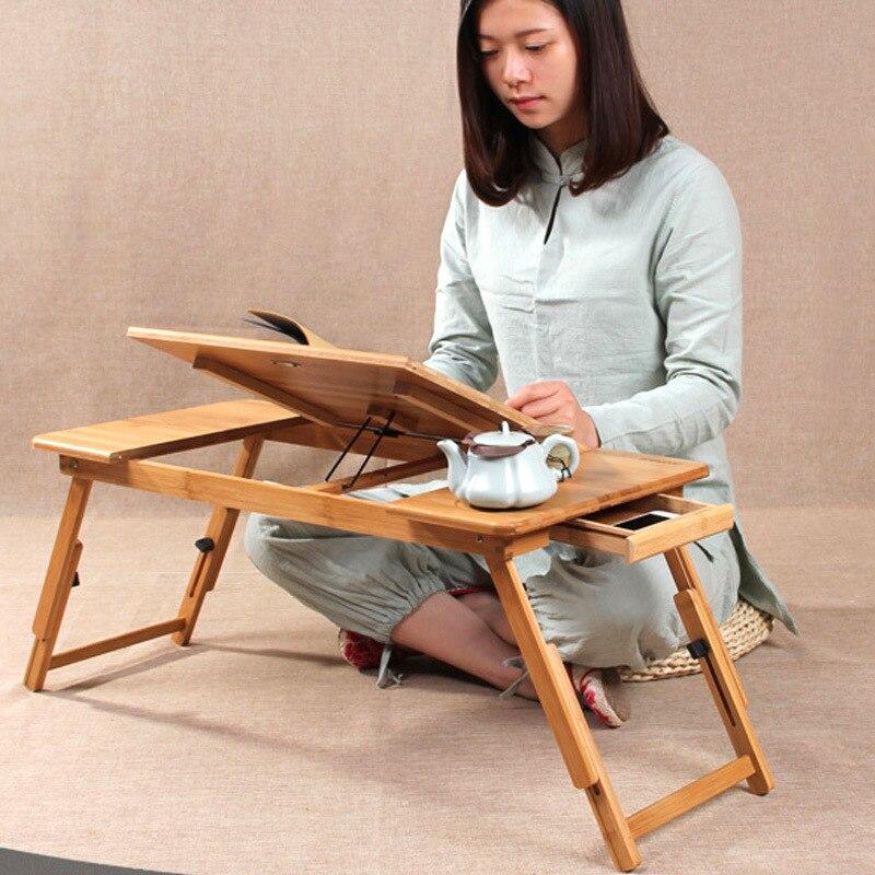 Computer Haushalts Einfache Und Einfach Bambus Tun Kleine Schreibtisch Sie College Student Bett Montieren Falten Dawdler Tisch Notebook