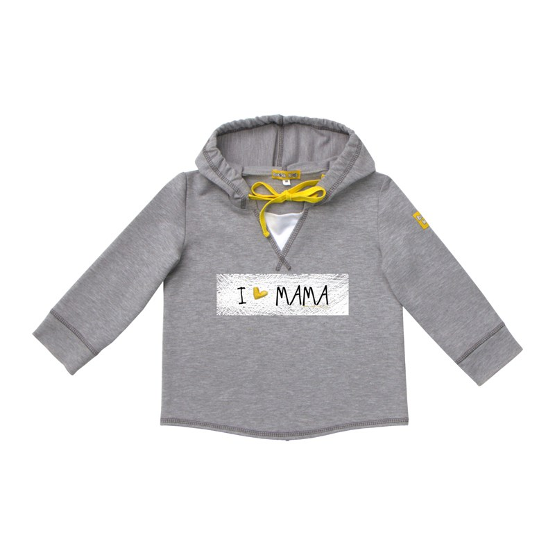 Basik Kids Jersey Sweatshirt gray melange kids clothes children clothing kids letter print sweatshirt