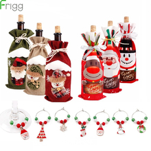 цена Merry Christmas Decorations For Home Santa Claus Xmas Bottle Cover 2019 Christmas Ornaments Navidad Natal Gift New Year 2020 в интернет-магазинах
