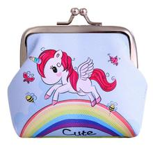 Mini Unicorn Patterned Coin Purse with Hasp