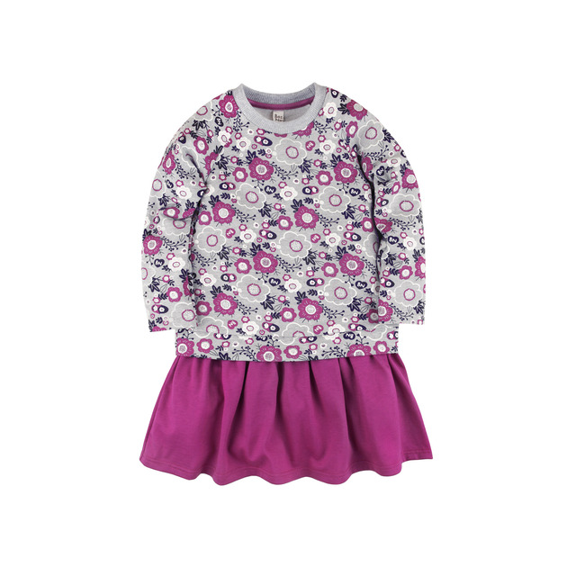 Платье 'Клюква' Bossa Nova Сиреневые цветы/фуксия 147B-487