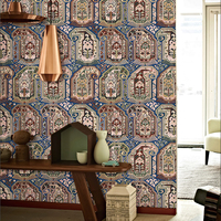 Style Classical Bohemia Neo Wallpaper Exotic Ethnic Wind Shop Background Wallpaper Mysterious Personality Wallpaper
