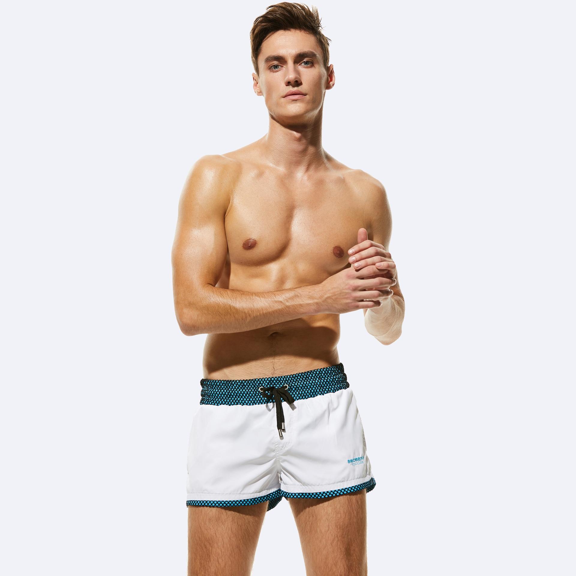 Quick Dry Swimming   Shorts   For Men Swimwear Man Swimsuit Swim Trunks Summer Bathing Beach Wear Surf Boxer   board     shorts