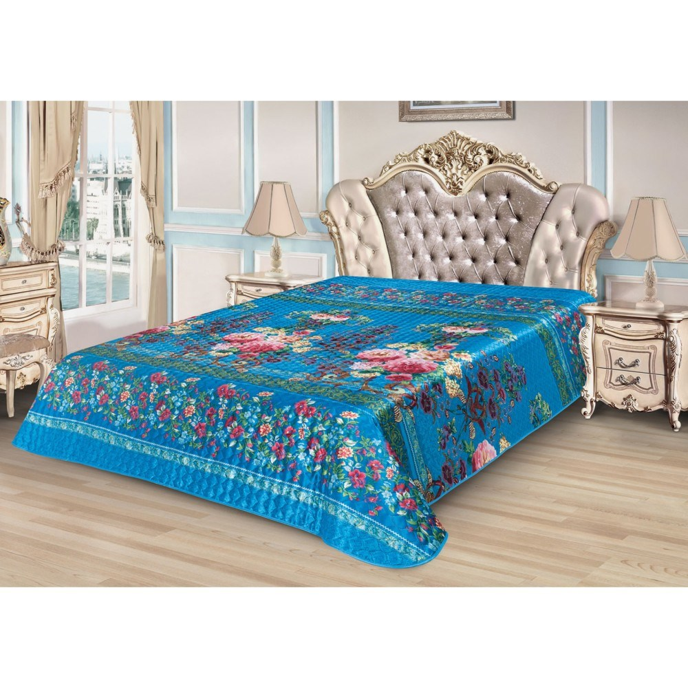 Bedspread Ethel Silk Floral Garden, size 200*220 cm, faux Silk 100% N/E chic style faux crystal floral cuff necklace for women