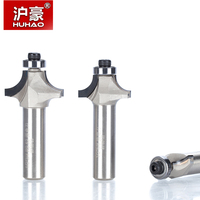 1pc 1/2 Shank Diamond Chamfer Round Router Bits Woodworking Cutter Slotter Engraving Machine Tool PCD Router Bit
