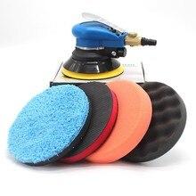 Pneumatic Waxing Machine 5 Inches Pneumatic Eccentric Polishing Machine Scratches Repair Paint Surface Grinding Sealing Glaze