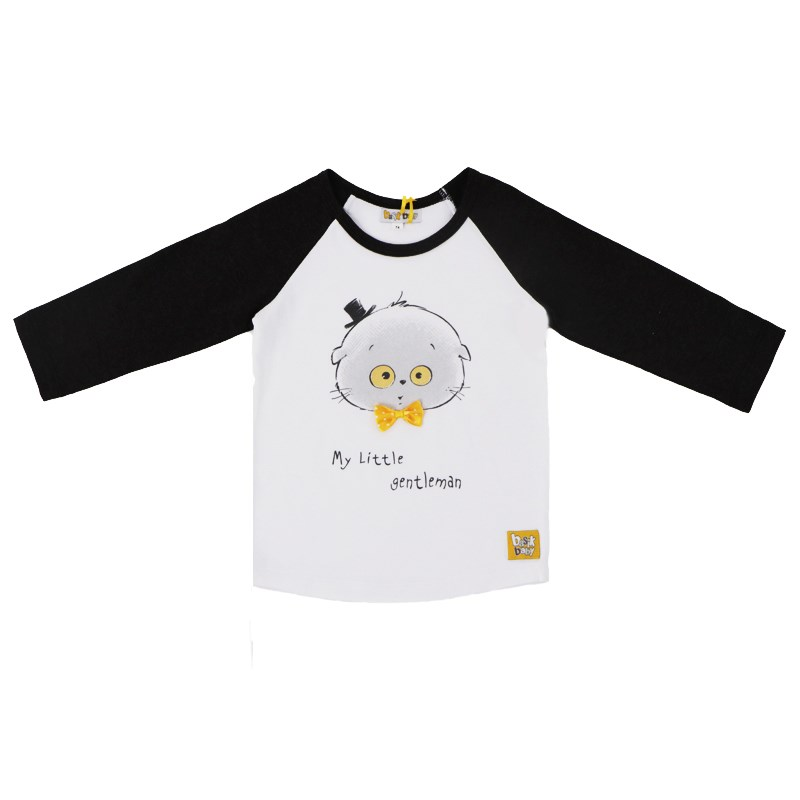 Basik Kids long sleeve T shirt sequined heart print raglan sleeve t shirt
