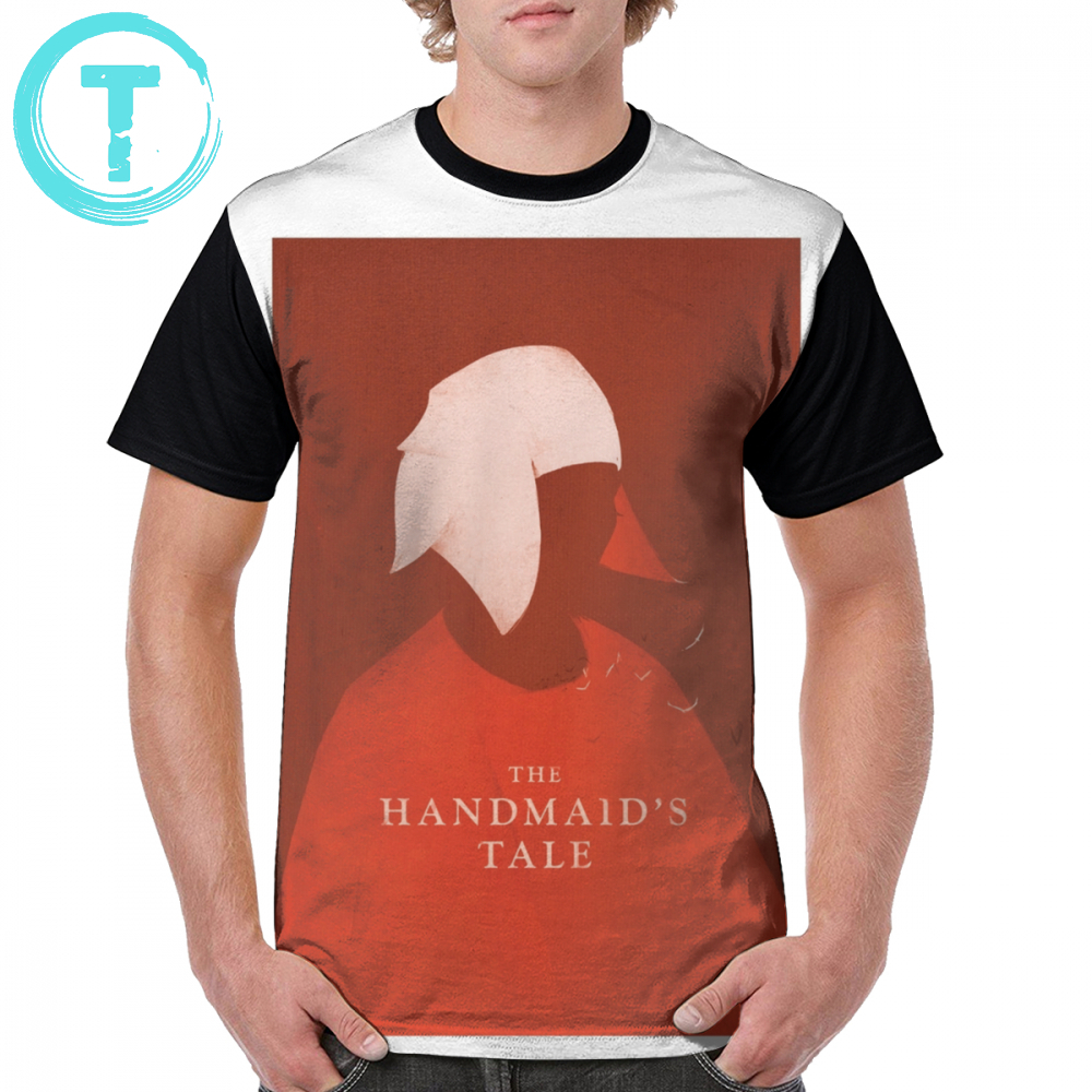 The Handmaids Tale T Shirt Handmaids Tale Cover T-Shirt 4xl Print Graphic Tee Shirt Men Awesome Summer 100 Polyester Tshirt