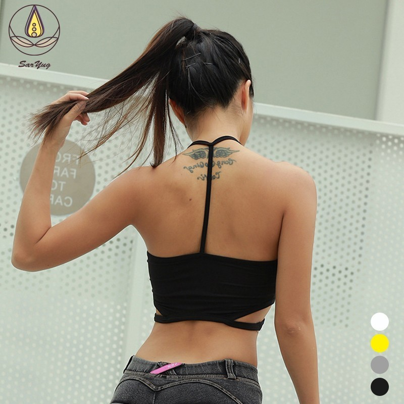 NEW Sexy Women Yoga Top Shockproof Breathable Sports Bra Push Up Seamless Vest Anti friction Padded Active Wear Yoga Suits in Sports Bras from Sports Entertainment