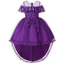 Carters Rushed Vestidos Mujer Trolls Moana Flower Girl Dress Wedding Party Dresses Trailings Ball Gown Princess Baby Pageant Gow