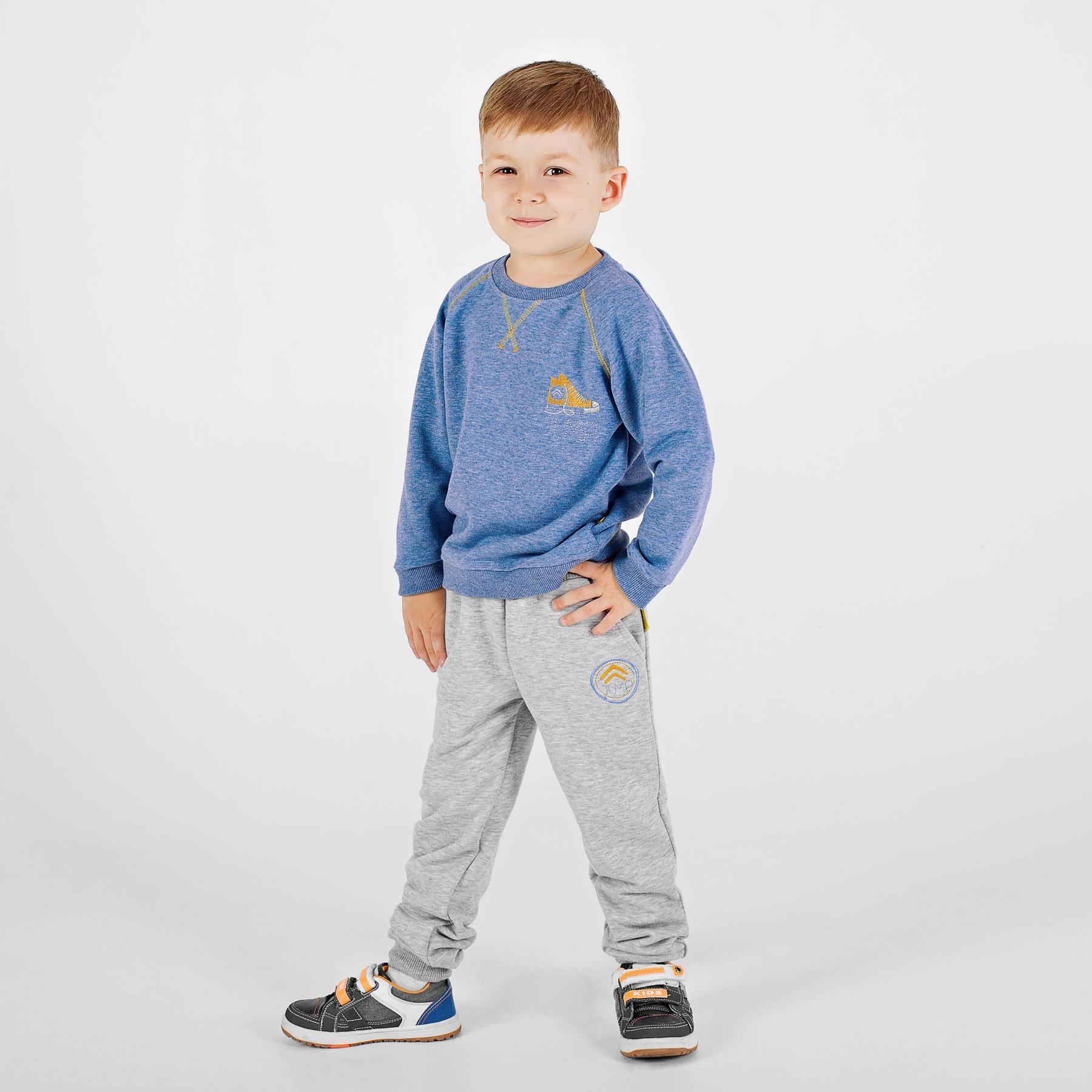 Sweatshirt for boys Bossa Nova 227B-460 christmas snowflake print long sleeve flocking sweatshirt
