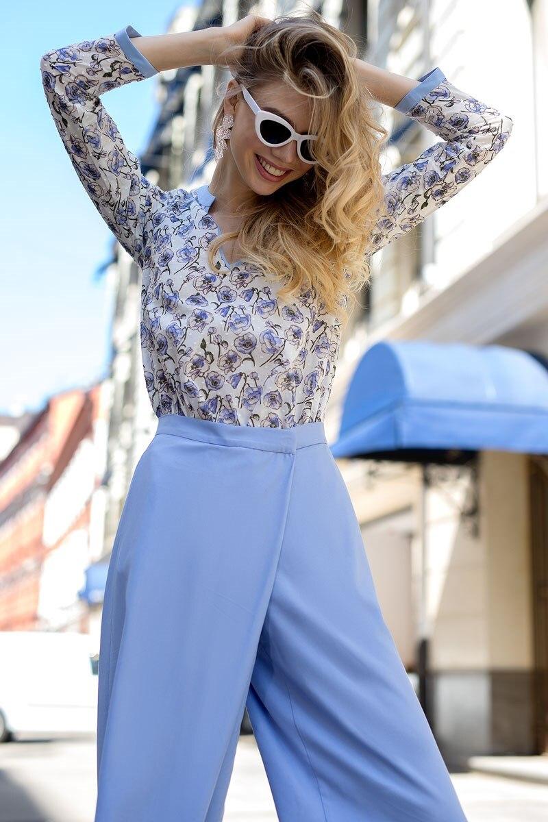 Blouse 1208342-71 ruffle trim blouse