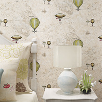 High Grade Hot Air Balloon Wallpaper For Kids Living Room Bedding Room Pink Yellow Blue Wall Paper Roll
