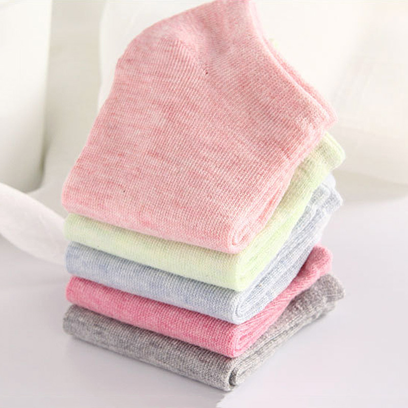 Fashion Summer Candy Color Short Women Ankle Socks Cotton Casual Springs Lady Stripes Students Girls Boat Socks in Sock Slippers from Underwear Sleepwears