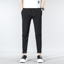 Летняя новая Корейская версия пары мужские свободные хип хоп хлопковые красивые повседневные штаны для уличного бега