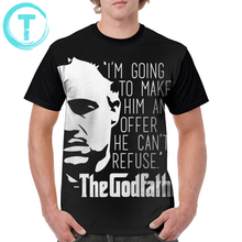 цена Godfather T Shirt The Godfather T-Shirt Beach Print Graphic Tee Shirt Man Cute Short Sleeve 4xl 100 Polyester Tshirt онлайн в 2017 году