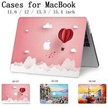 Caixa do portátil Para MacBook 13.3 15.4 Polegada Para MacBook Air Pro Retina Teclado 11 12 13 15 Com Protetor de Tela saco Caso enseada Maçã
