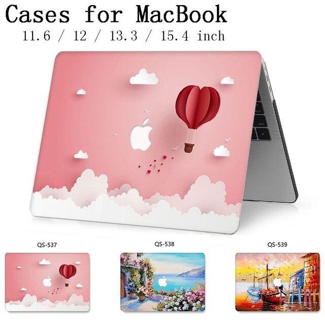 Funda para ordenador portátil para MacBook 13,3 de 15,4 pulgadas para MacBook Air Pro Retina 11 12 13 15 con funda protectora de pantalla para teclado apple bolsa caso