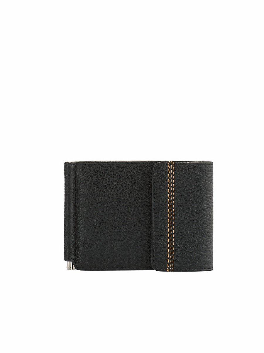 Money clip Z.11.BR. Black 2017 men leather brand luxury wallet vintage minimalist short male purses money clip credit card dollar price portomonee