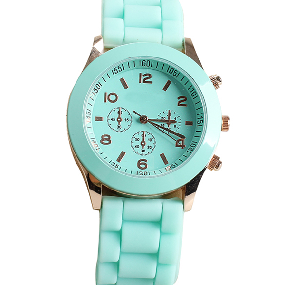 Girl Boy Quartz Wrist Watch With Jelly Candy Color Silicon Watchband Round Dial  TY66