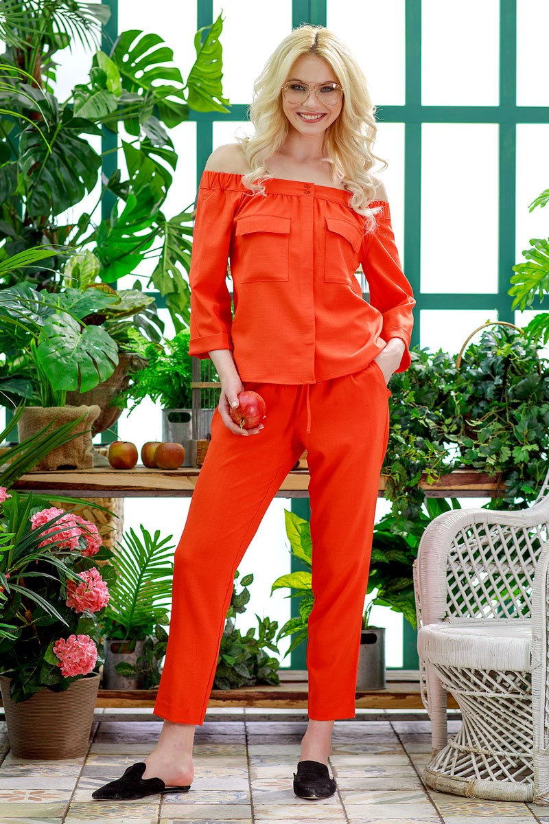 Blouse 1203145-53 blouse straight cut