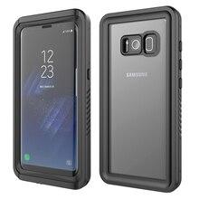 CASEWIN Samsung Galaxy S8 kılıfı IP68 su geçirmez 360 derece koruma sualtı kapak Samsung Galaxy S8 durumda şeffaf