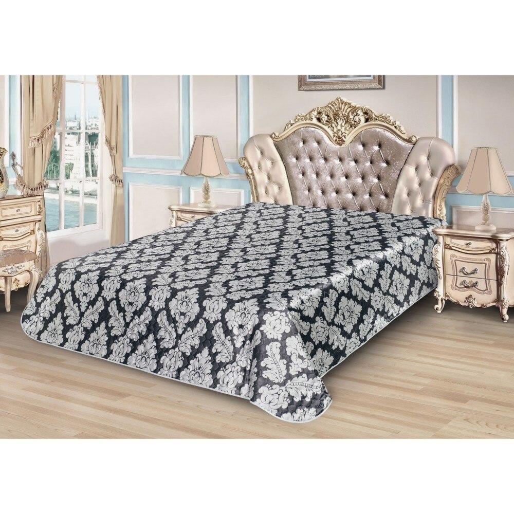 Bedspread Ethel Silk Velvet, size 180*220 cm, faux Silk 100% N/E flounce sleeve faux pearl beading lace top