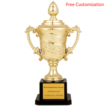 Best Electroplate Gold Plastic Sports Trofeos Free Customized Logo Text Rose Student Children Small Trophy League Trophies Cup crystal trophies and awards customized basketball football golf tennis logo champions league cup trophy souvenirs
