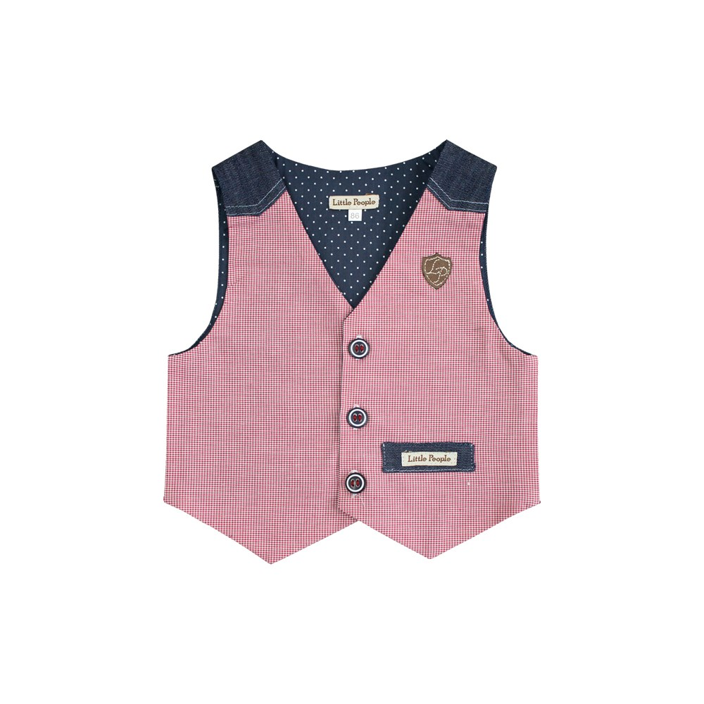 Фото - Little People Vest Jean active cut out elastic vest in navy