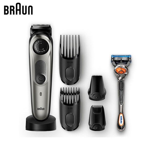 Триммер для бороды Braun BT7040 + Бритва Gillette + 2 насадки