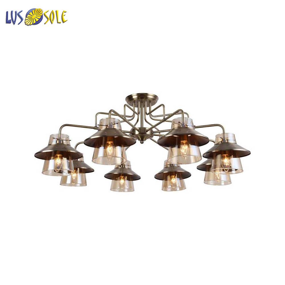 Chandeliers Lussole 135698 ceiling chandelier for living room to the bedroom indoor lighting jueja modern crystal chandeliers lighting led pendant lamp for foyer living room dining bedroom
