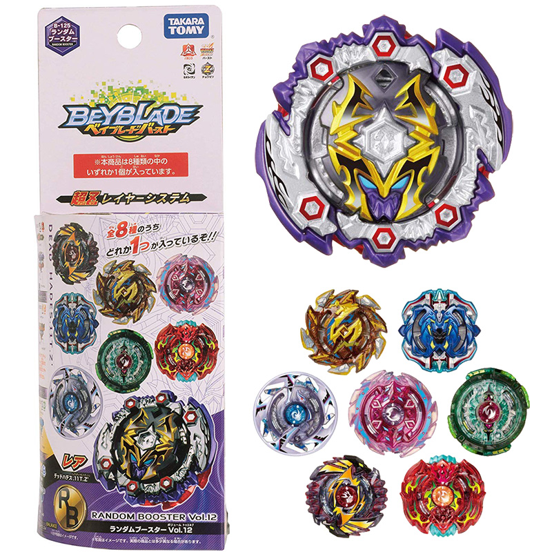 цена 2018 Original TOMY Toupie Beyblade B-125 Random bags V.12 bey blade bayblade burst Top Spinner Toy for Children without launcher