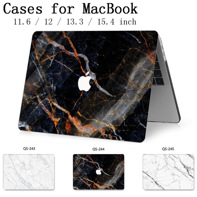 For New Notebook Sleeve Laptop Case Bags For MacBook Air Pro Retina 11 12 13 15.4 13.3 Inch With Screen Protector Keyboard Cove