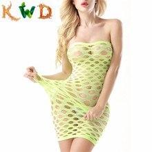 Нижнее белье в сетку KWD, эластичное, хлопок, Lenceria, сексуальное нижнее белье,, женские сексуальные костюмы в сеточку, платье для куклы, эротическое белье
