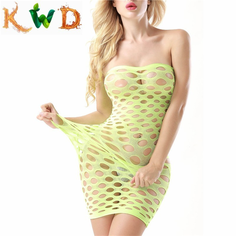 KWD Fishnet Underwear Elasticity Cotton Lenceria Sexy Lingerle Hot Women Sex Costumes For Mesh Baby Doll Dress Erotic Lingerie