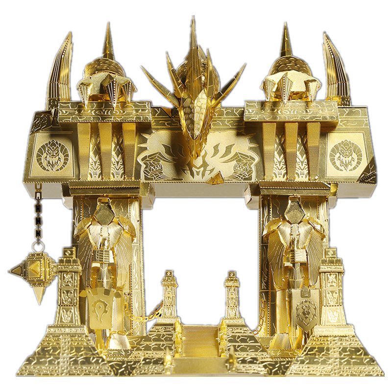 Laiton sombre portail amusant 3d métal bricolage Miniature modèle Kits Puzzle jouets enfants éducatif garçon épissage Science passe-temps