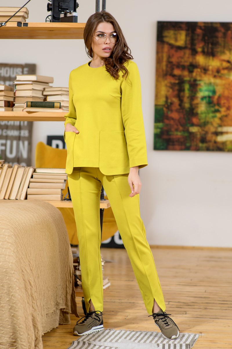 Blouse 1207941-52 ruffle trim blouse