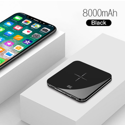 Travelcool 8000mAh QI Wireless Charger Dual USB Portable Power Bank For Samsung Charger Wireless External Battery Pack Powerbank