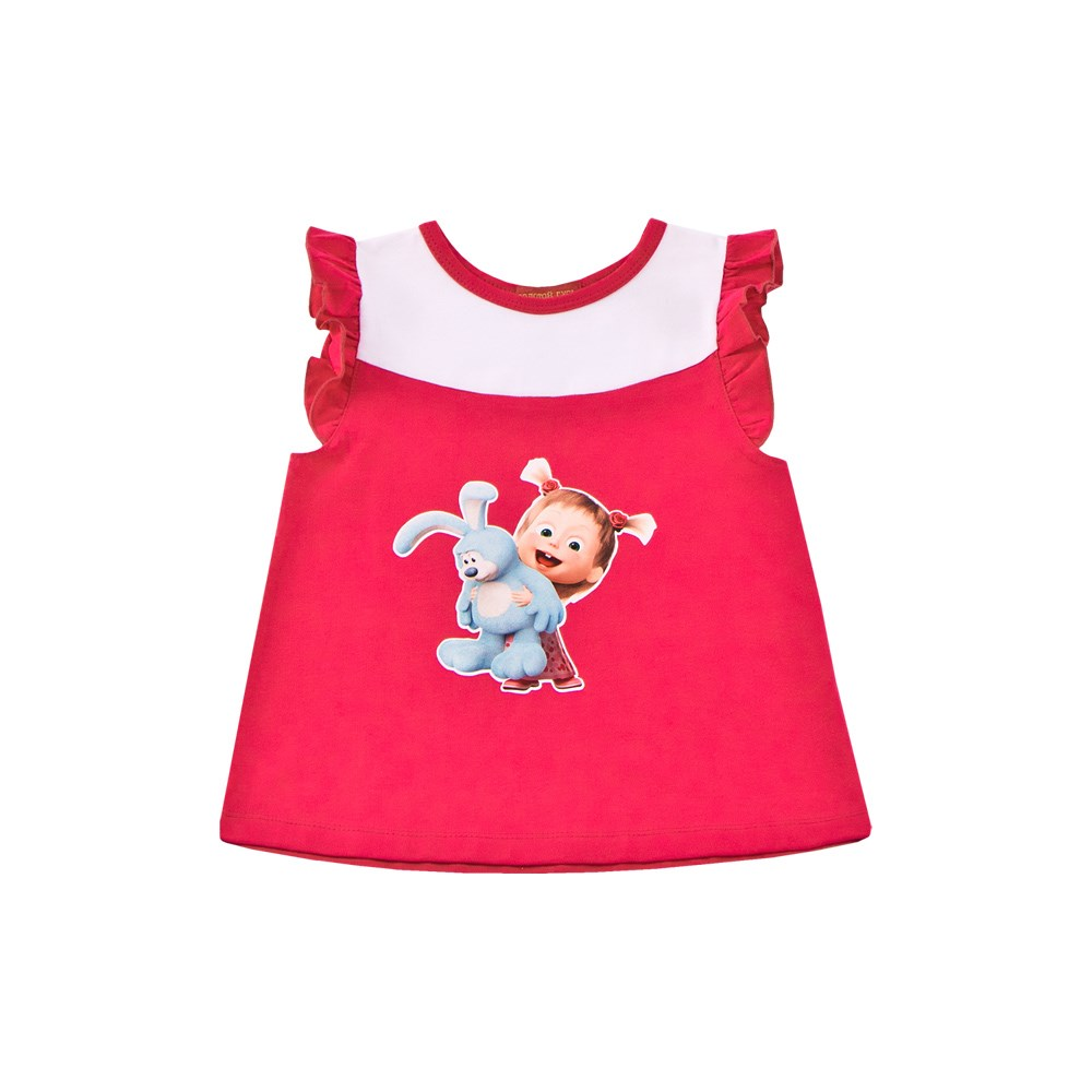 Masha and Bear Shirt tank top with wings M laser cut dip hem tank top
