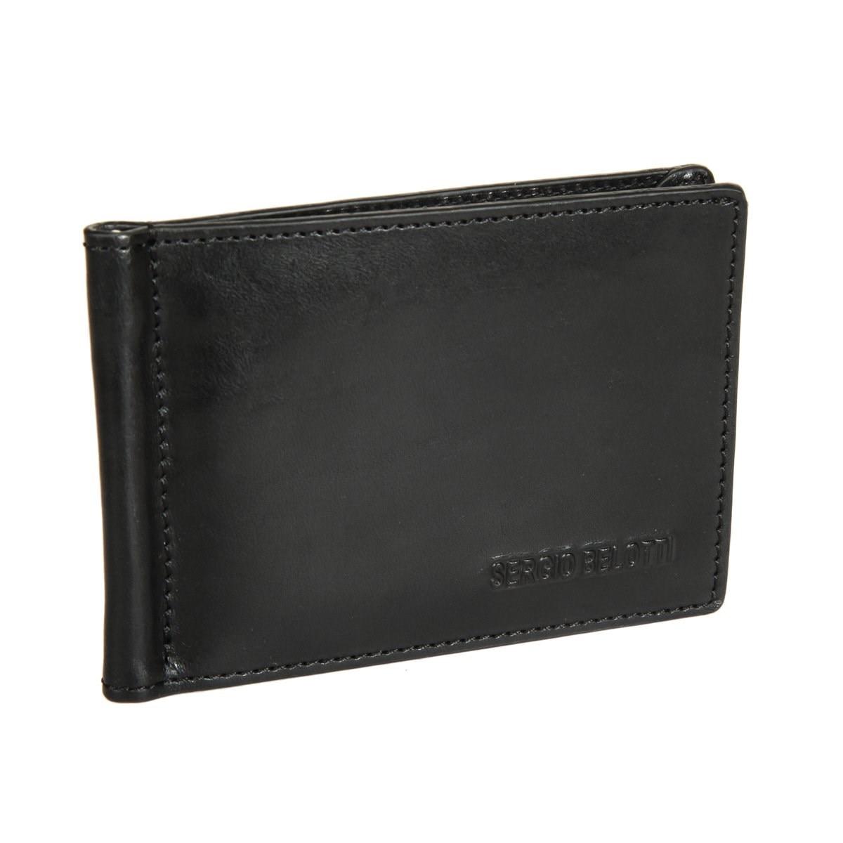 Money clip Sergio Belotti 3589 IRIDO black edcgear abs double sides slim money clip card holder