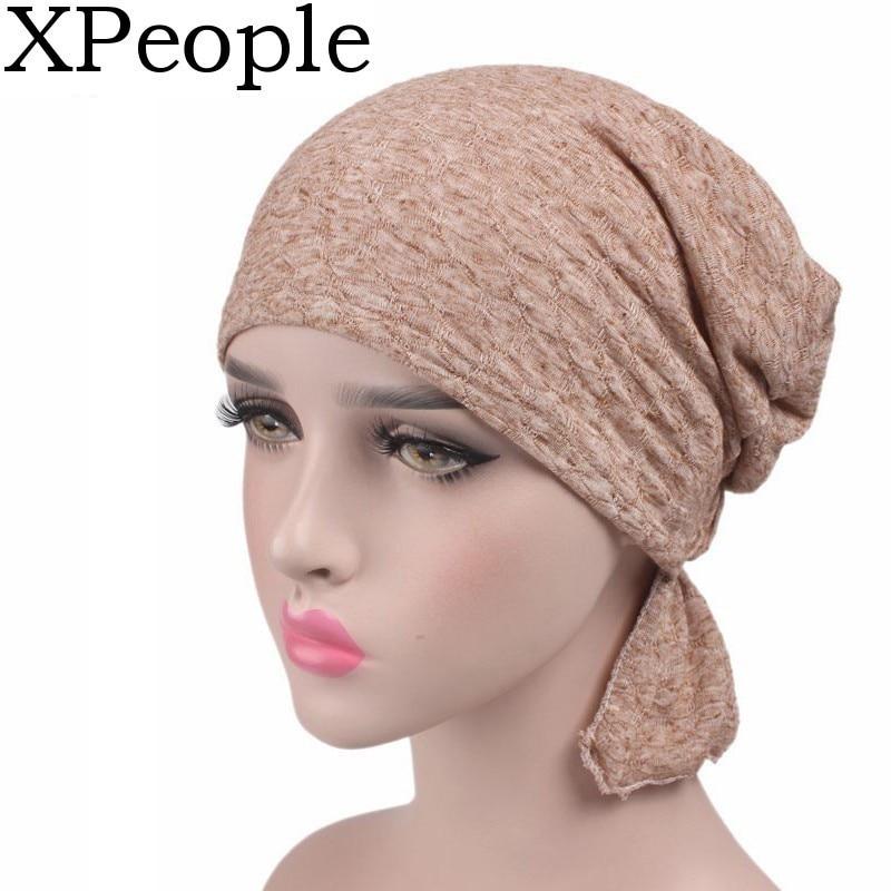 XPeople Chemo Cancer Head Scarf Hat Cap Ethnic Cloth Turban Headwear Women Womens Beanie