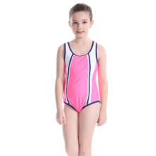 Summer Hot Sale Children Swimwear One piece Girls Sport Pink Swimsuit For Kids Pathchwork Cross Bathing Suit Top Quality